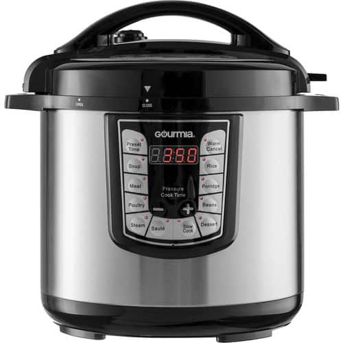 Gourmia - 8-Quart Pressure Cooker - Stainless steel for $65