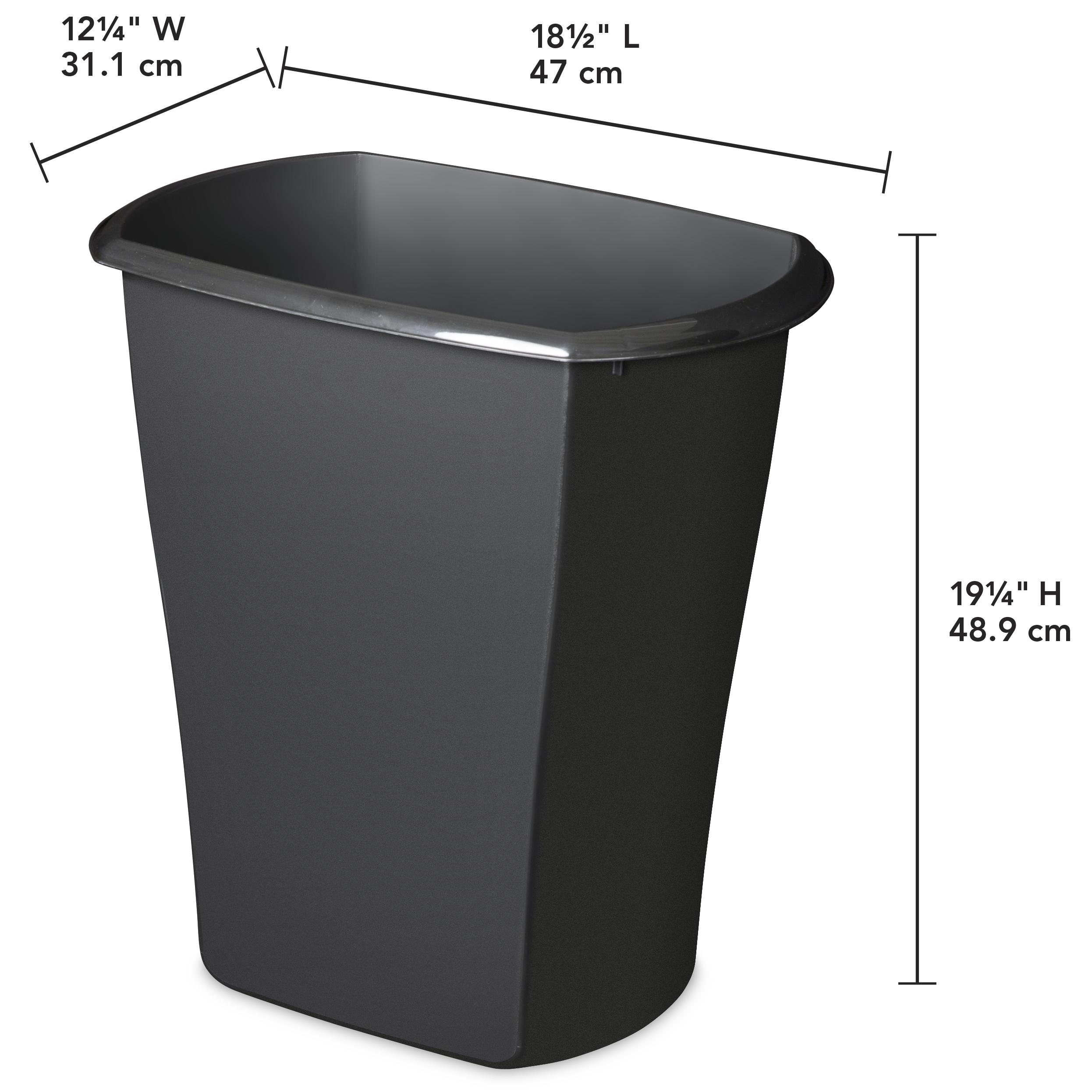 Sterilite, 10 Gal./38 L Rectangular Wastebasket, Pack of 6 in Black $14.99