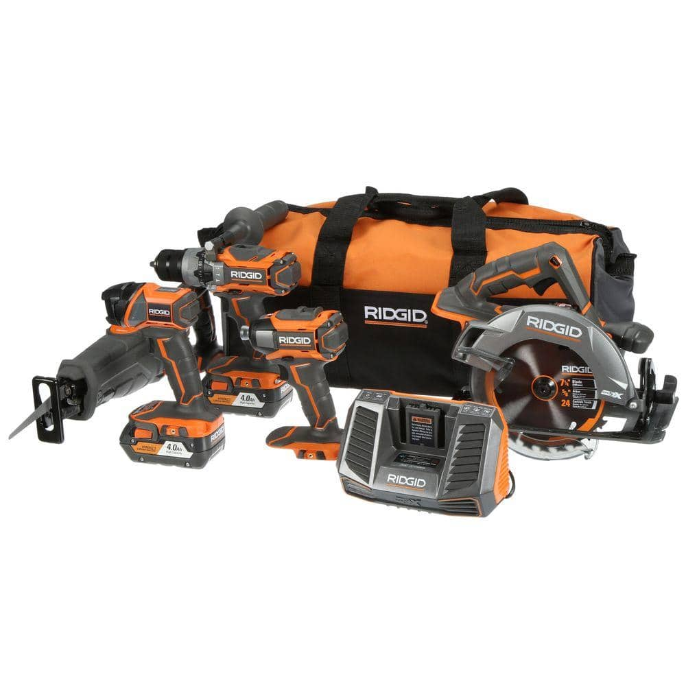 RIDGID R9652 5 tool combo kit $399 at The Home Depot B&M and online- free shipping