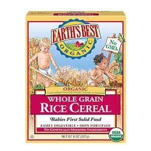 Earth's Best Organic Infant Cereal, Whole Grain Rice, 8 oz. Box (Pack of 12) $7.89 add on