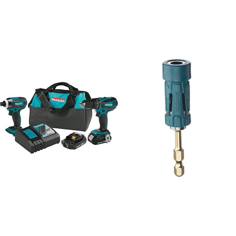 Makita XT273R 18V Hammerdrill 2-Pc. Combo Kit - 2 Battery + Impact Gold Ultra-Magnetic Torsion Insert Bit Holder - $144.99