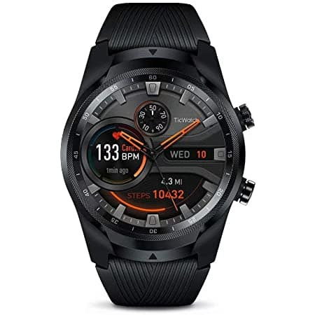 TicWatch Pro 4G LTE Cellular Smartwatch GPS NFC Wear OS by Google Android Health and Fitness Tracker with Calls Notifications Music Swim Sleep Tracking Heart Rate Monitor $59.99