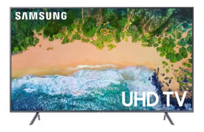 "SAMSUNG 55"" 4K Ultra HD Smart HDR TV with $20 VUDU Credit + 2 Day Free Shipping $399.99"
