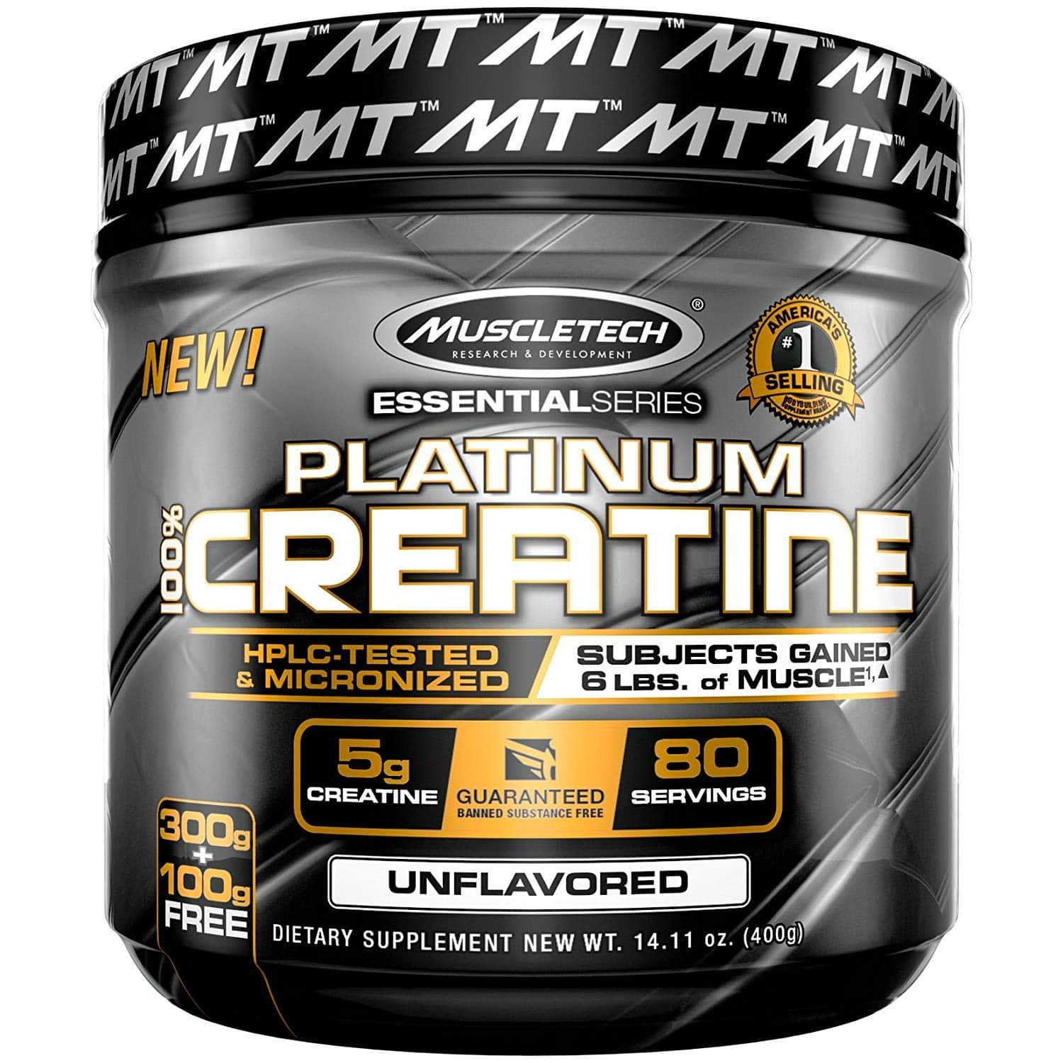 MuscleTech Platinum Creatine, $7.10 after 5% coupon