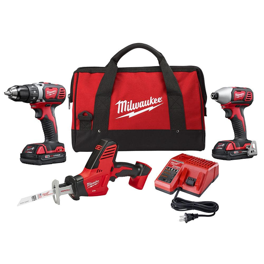M18 18-Volt Lithium-Ion Cordless Drill Driver/Impact Driver and HACKZALL Combo Kit (3-Tool) with Two 1.5 Ah Batteries $199