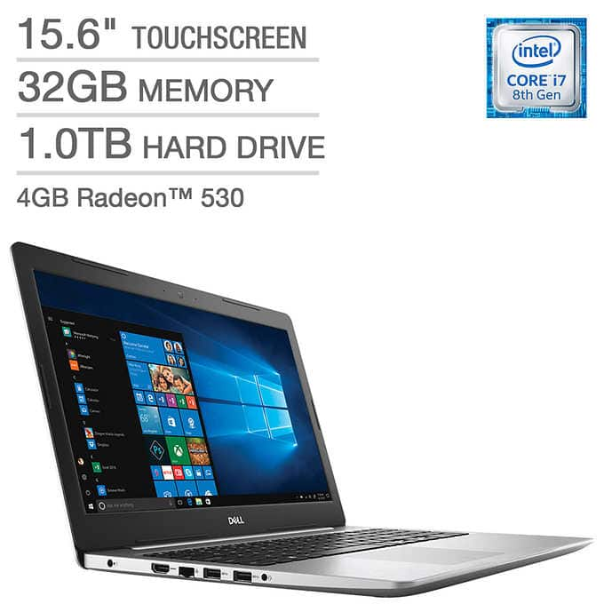 Costco Members:Dell Inspiron 15 5000 Touchscreen Laptop - 8th Gen i7, 32GB RAM,  4GB AMD Graphics $899