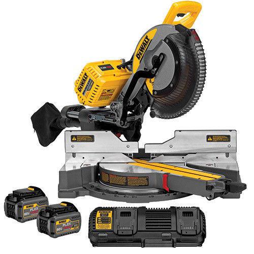DEWALT 120V MAX Li-Ion Sliding Miter Saw Kit w/2 Batteries DHS790T2- $468 - Ebay $467.49
