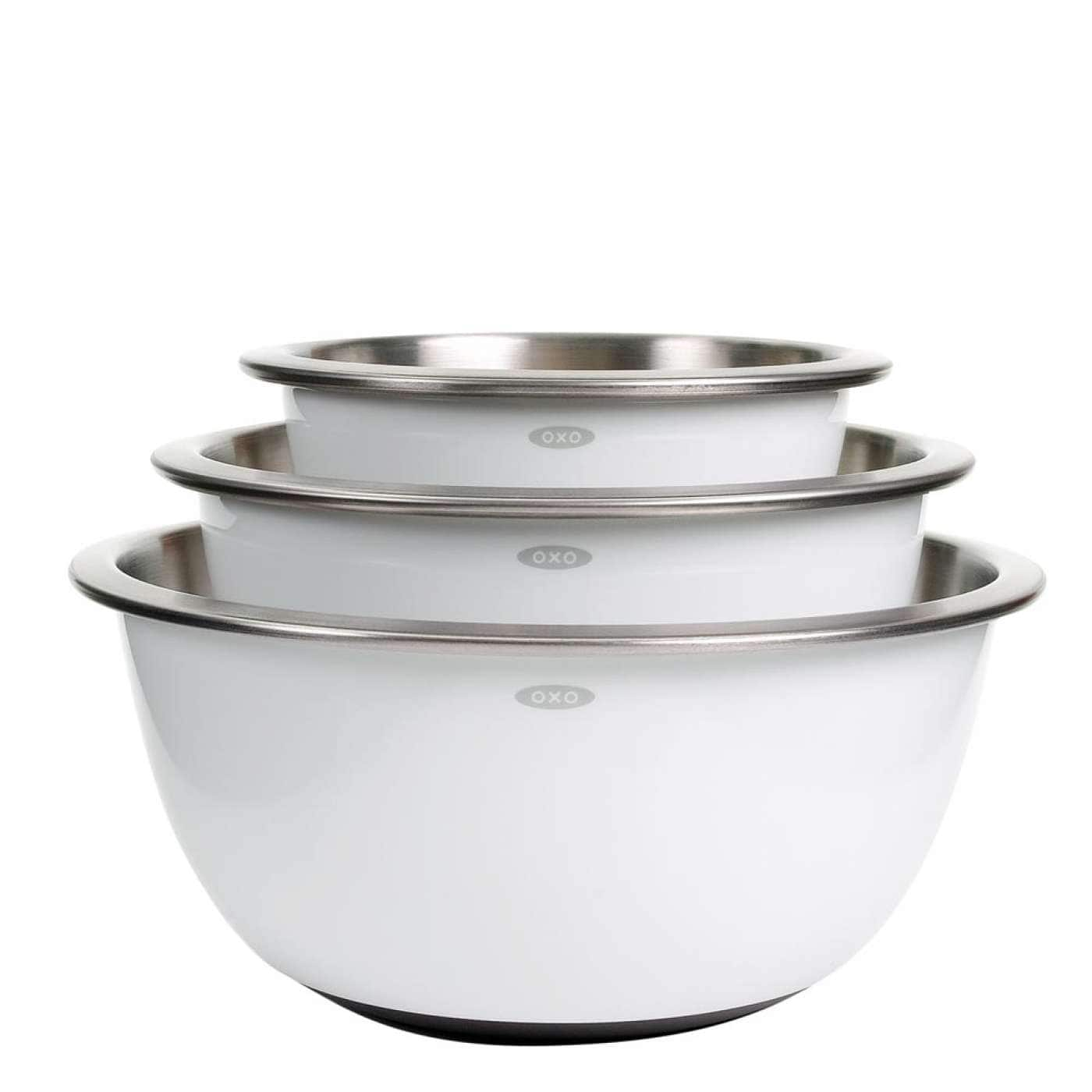 Kohl's cardholders : 1 x OXO Good Grips 3-pc. Stainless Steel Mixing Bowl Set for $36.74 or 2 x OXO® Good Grips® 3-pc. Mixing Bowl Set for $36.63 plus free shipping