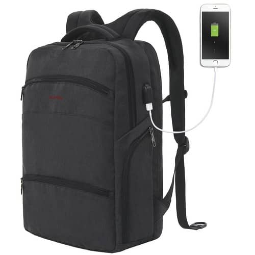 SLOTRA Computer Backpack TSA Friendly ScanSmart Laptop Travel Backpack with Removable USB Charging Port- Fits up to 17 Inch Macbook $32.19