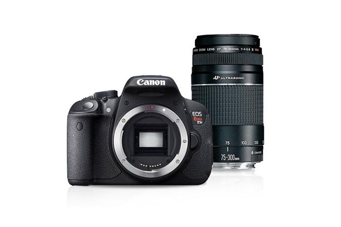 EOS Rebel T5i Body & EF 75-300 lens