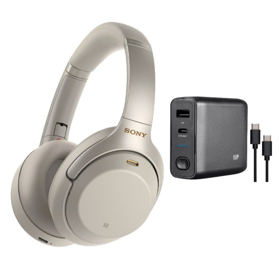 Sony WH1000XM3 Wireless Noise Canceling Headphones (Silver) and USB-C Power Bank + Free Shipping $297.5