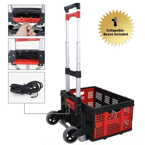 Finether Cart Aluminum Folding 2-wheel Hand Cart Lightweight Portable Hand Truck /Dolly with Collapsible and Detachable Box $36.49