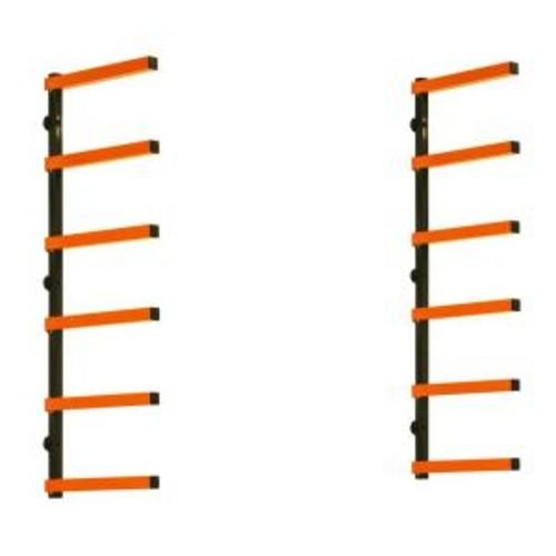 """Portamate 72""""x41"""" Orange/Black Steel Garage Storage System $29.99"""