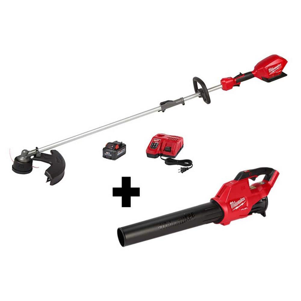 Milwaukee M18 Fuel Bundle - String Trimmer w/ QUIK-LOK, M18 FUEL Blower, XC8.0 Battery, and charger $379