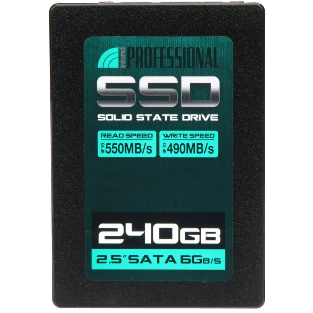Inland Professional 240GB 3D MLC V-NAND Internal SSD Micro Center $44.99