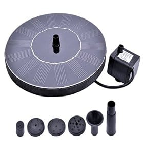 RockBirds PQ03 Solar Bird bath Fountain Pump with Power Panel Kit and Water Pump, Outdoor water fountains-$9.99