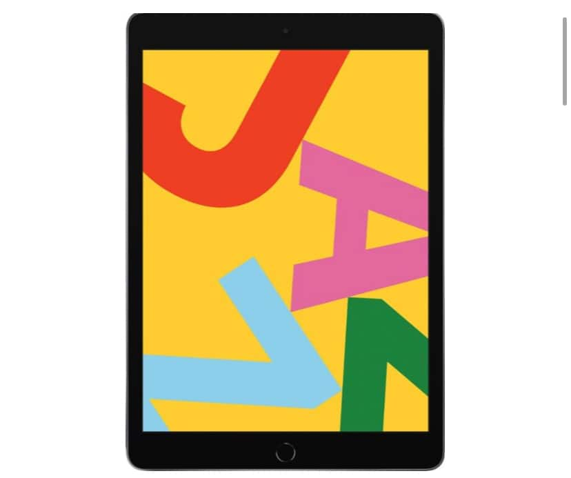"128GB Apple iPad 7th generation 10.2"" WiFi tablet (2019) $330 (32GB and cellular available too)"