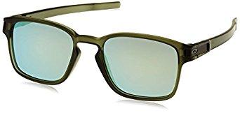 Oakley Mens Latch Squared Sunglasses, Matte Rootbeer/Dark Brown Gradient - $44.99