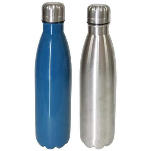 Mainstays 17oz Double Wall Vacuum Water Bottle, Corsair/Stainless Steel, 2pk $7.97