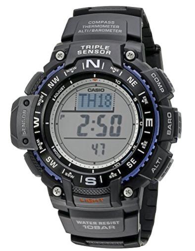 Casio Men's SGW-1000-1ACR Triple Sensor Digital Display Quartz Black Watch $48.3