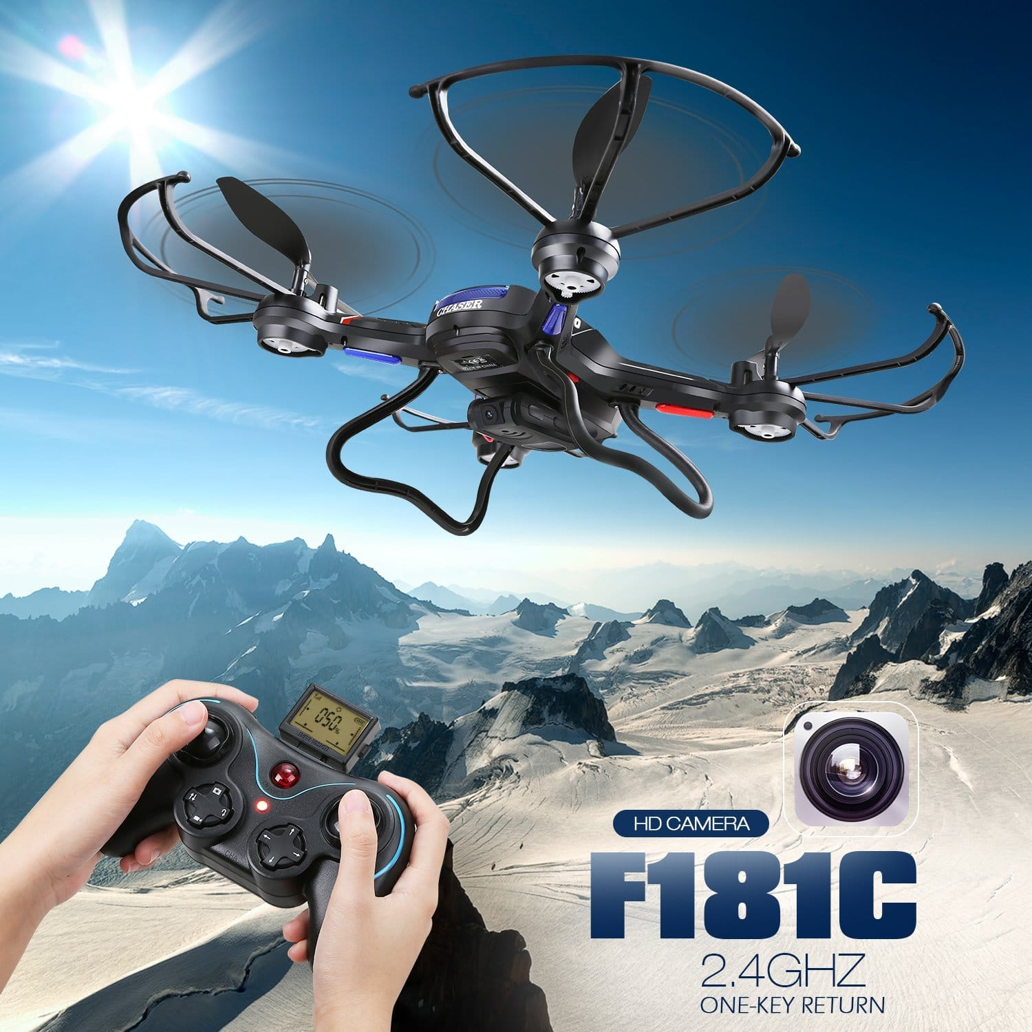F181C RC Quadcopter Drone with HD Camera RTF 4 Channel 2.4GHz 6-Gyro for $49.99 AC + Free Shipping