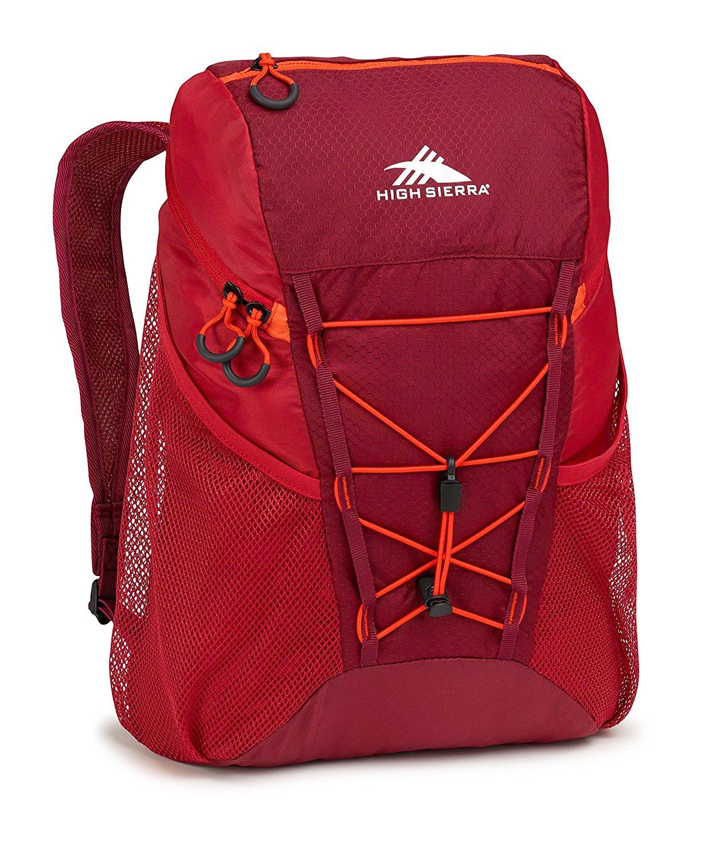 High Sierra 18L Packable Sport Backpack (red or eggplant) $13.99
