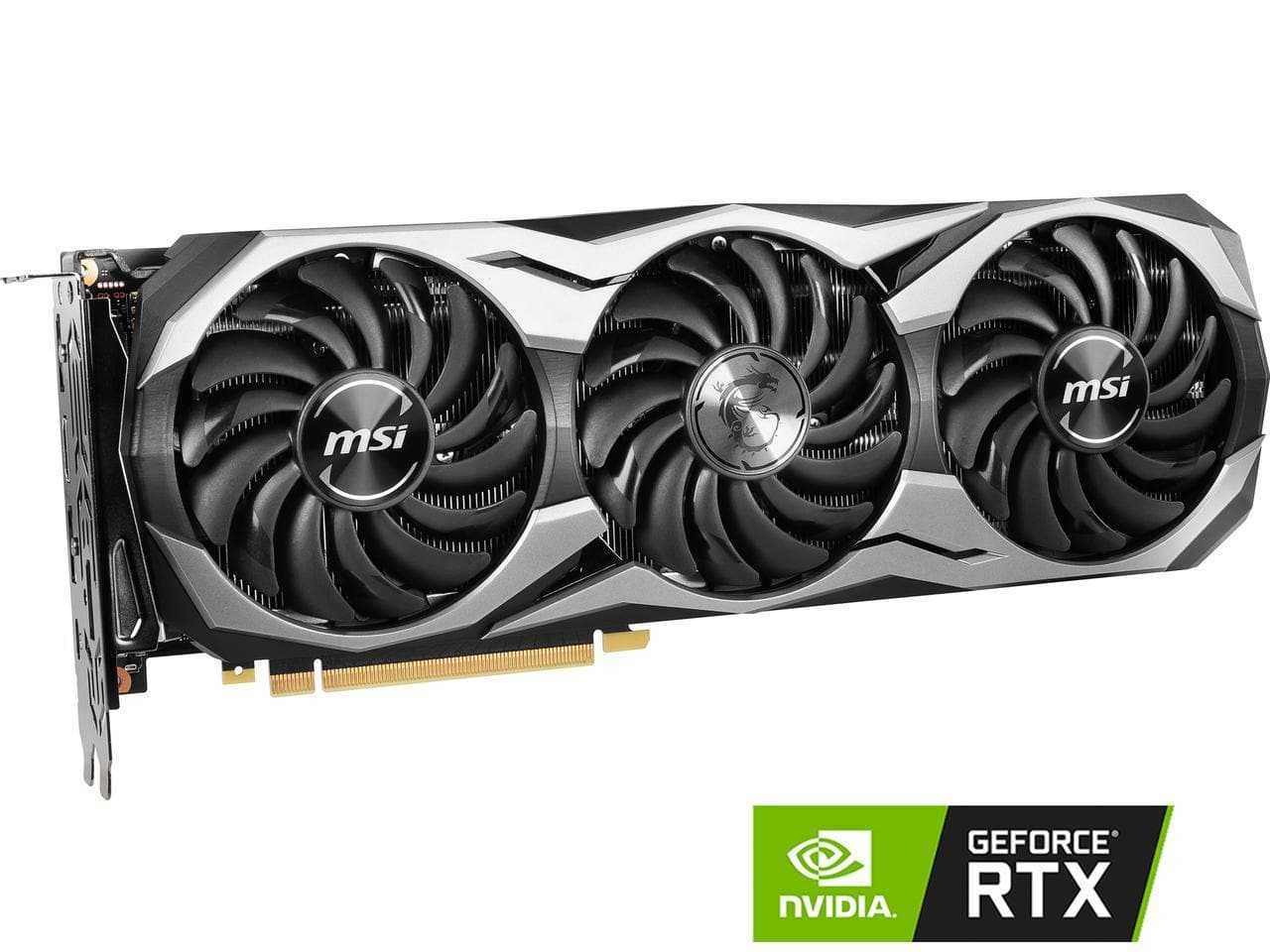 MSI GeForce RTX 2070 DirectX 12 RTX 2070 DUKE 8G OC 8GB 256-Bit GDDR6 PCI Express 3.0 x16 HDCP Ready Video Card $410