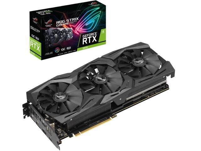 ASUS ROG Strix GeForce RTX 2070 DirectX 12 ROG-STRIX-RTX2070-O8G-GAMING 8GB 256-Bit GDDR6 PCI Express 3.0 $419.99 AR