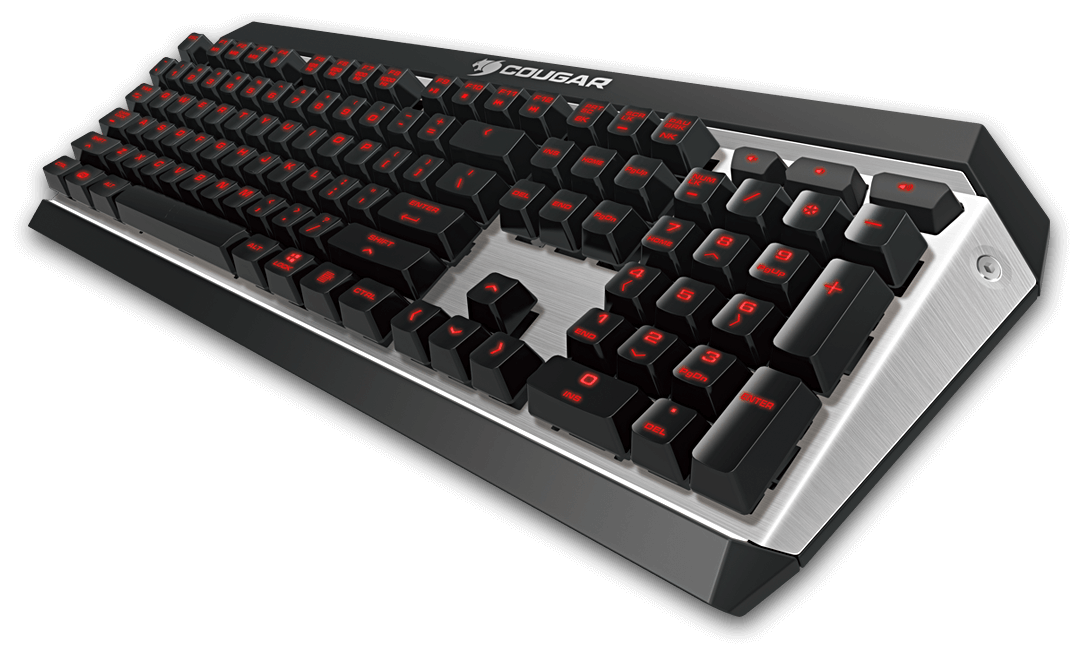 Cougar Attack X3 Cherry MX (Blue, Red, Brown) Red Backlit Aluminium Base Mechanical Keyboard $55.3
