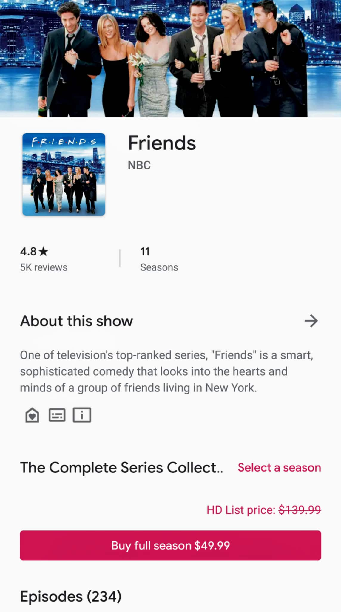 Friends Complete TV Series Full HD version $49.99