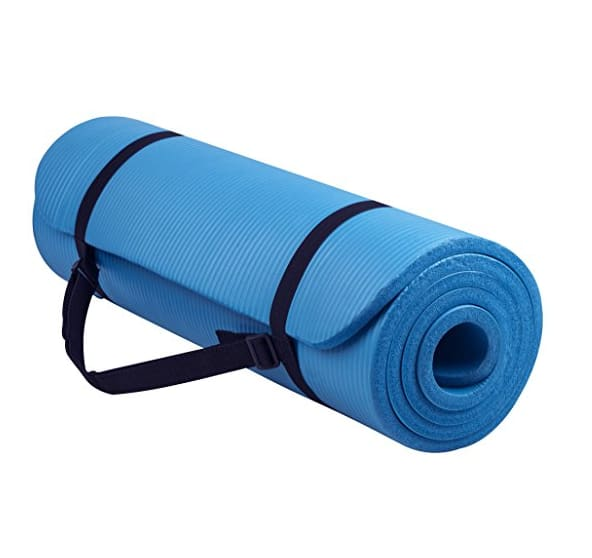 BalanceFrom GoYoga All-Purpose 1/2-Inch Extra Thick High Density Anti-Tear Exercise Yoga Mat with Carrying Strap (Add on item only/ blue color only)