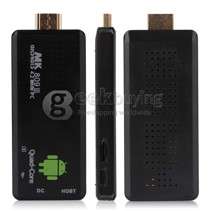 Quadcore Android PC Stick + TV Box deals (MK809III - $49.99 and Q7 - $59.99) HDMI, Bluetooth, XBMC, WiFi, Skype, etc - Expired coupon working for Q7 - Free ship for each.