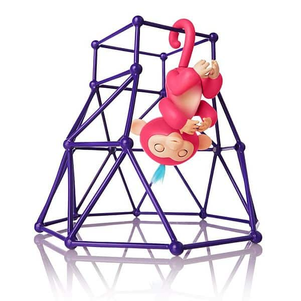 Fingerlings - Jungle Gym Playset + Interactive Baby Monkey Aimee (Coral Pink with Blue Hair) $19.99