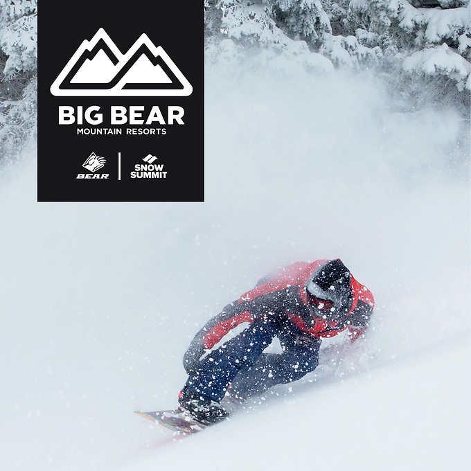 Big Bear / Snow Summit Four 1-Day Lift Ticket $209.99