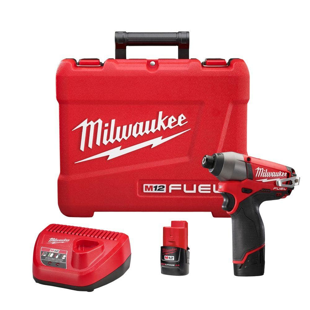 Milwaukee M12 FUEL Cordless 1/4 in. Hex Impact Driver Kit $99