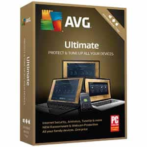 AVG Ultimate 2018 Unlimited Devices / 1Year Key card or boxed $5 AR/AC @Fry's