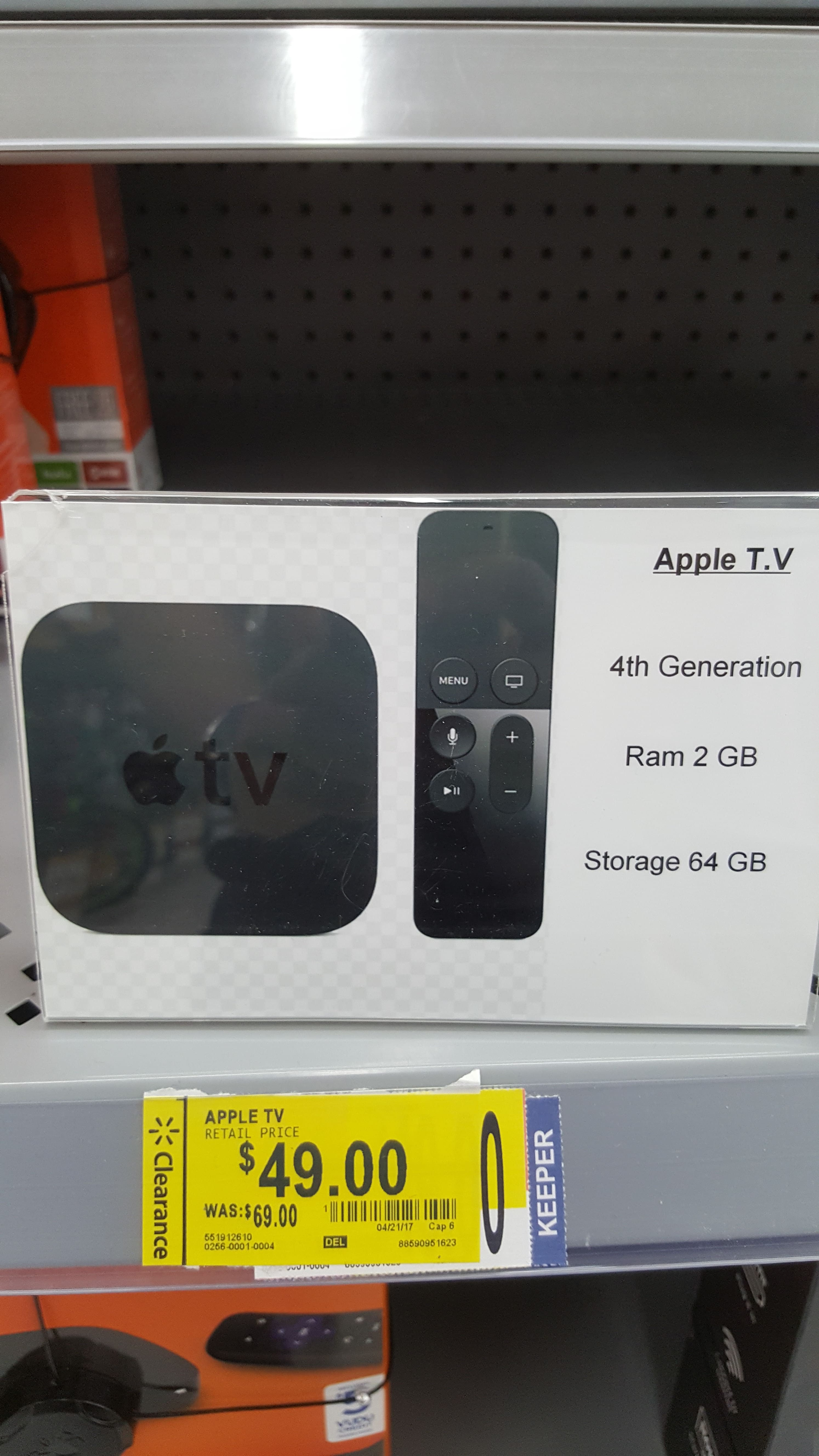 Apple TV 4th Gen - Walmart in-store $49 - YMMV