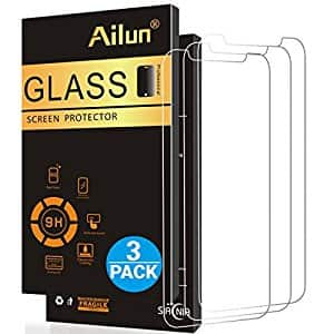 Ailun iPhone X 3 Pack Tempered Glass Screen Protectors $3.99