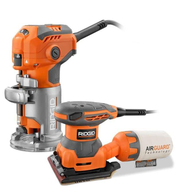 Ridgid Router and Sheet Sander Combo $99