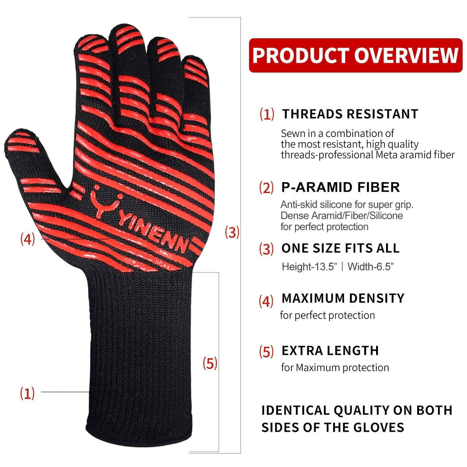 BBQ Grill Gloves w/ Heat Resistance, Insulated Silicone f$5.49AC Amazon