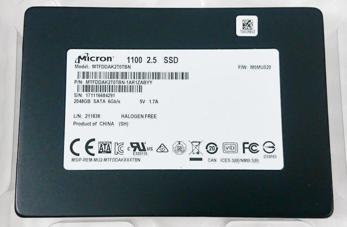 Micron 1100 2TB SSD $385