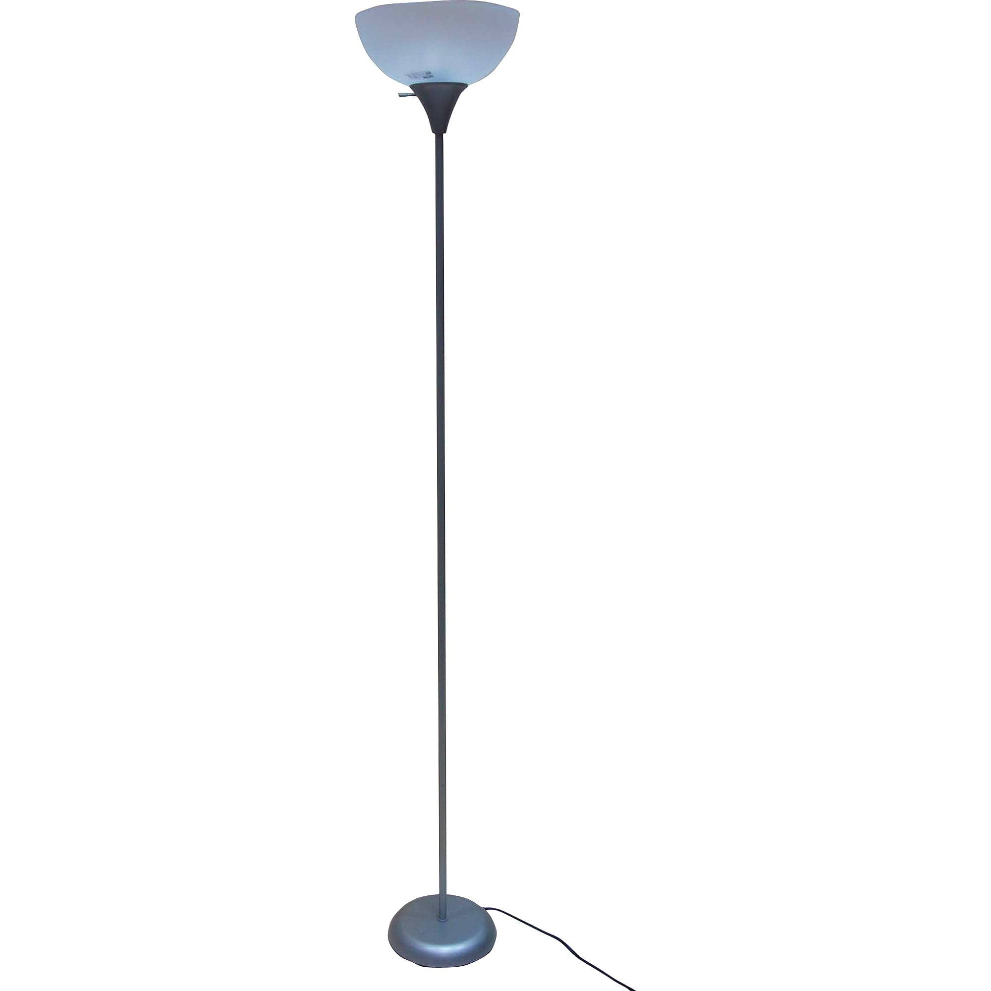 Mainstays 71 inch Floor Lamp, Silver -  $3 with pickup discount - YMMV