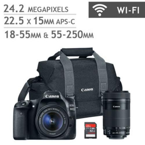 Costco: Canon EOS 80D DSLR Camera 2 Lens Bundle - $1199.99