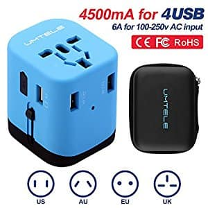 UMTELE Universal Wall Outlet Plug (Travel Adapter) - Amazon - $9.49 (orig. 19.99)