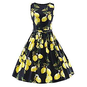 Women's Vintage 1950s Sleeveless Swing Cocktail Dress - Amazon AC = $9.89