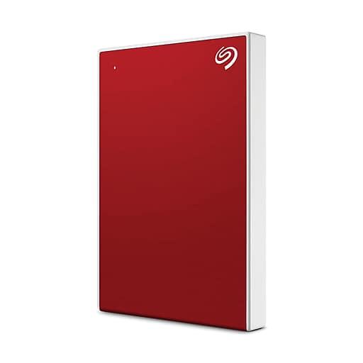 2TB Seagate Backup Plus Slim USB 3.0 External Hard Drive (Red ...