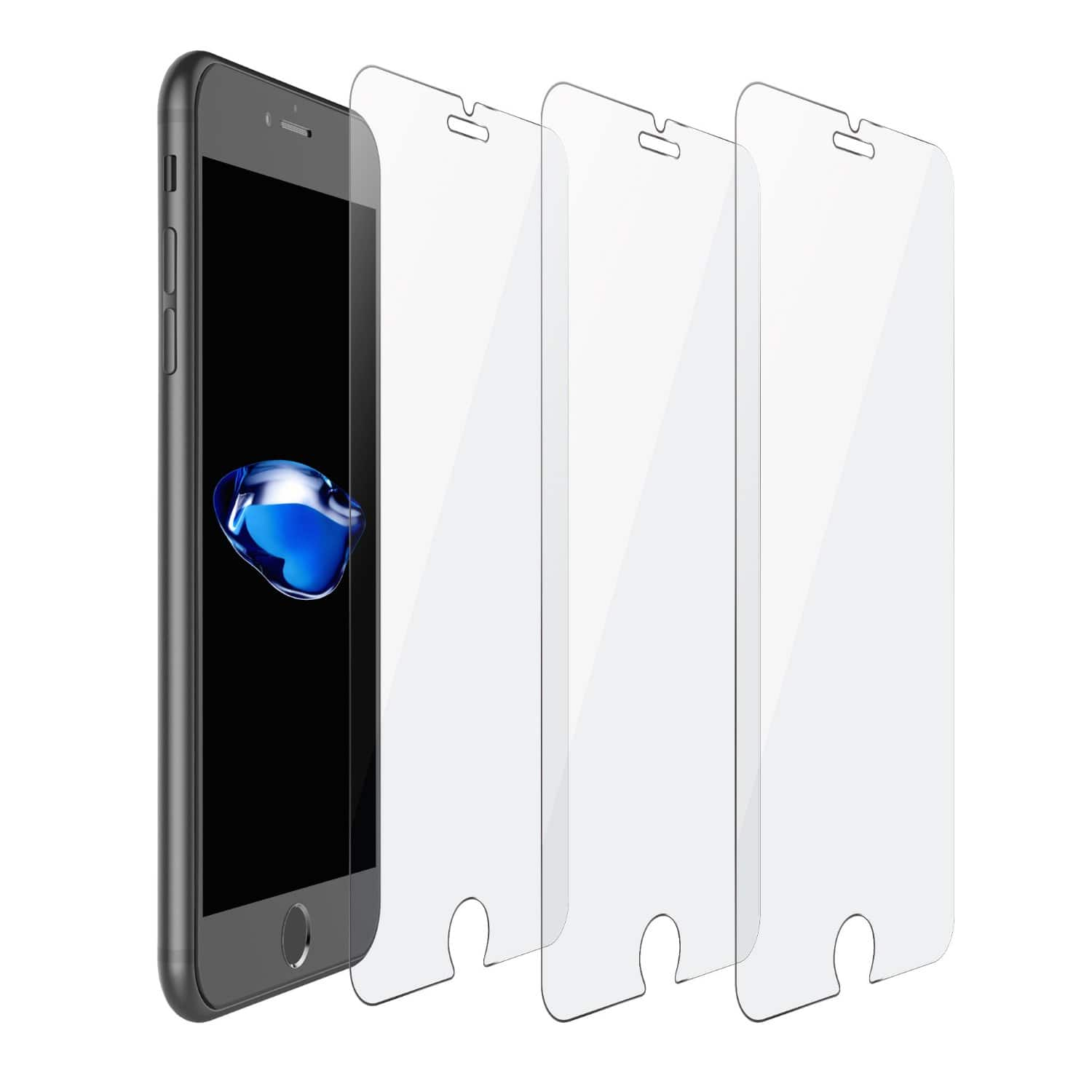 iOrange-E 3 Pack iPhone 7 Tempered Glass Screen Protector $3.99