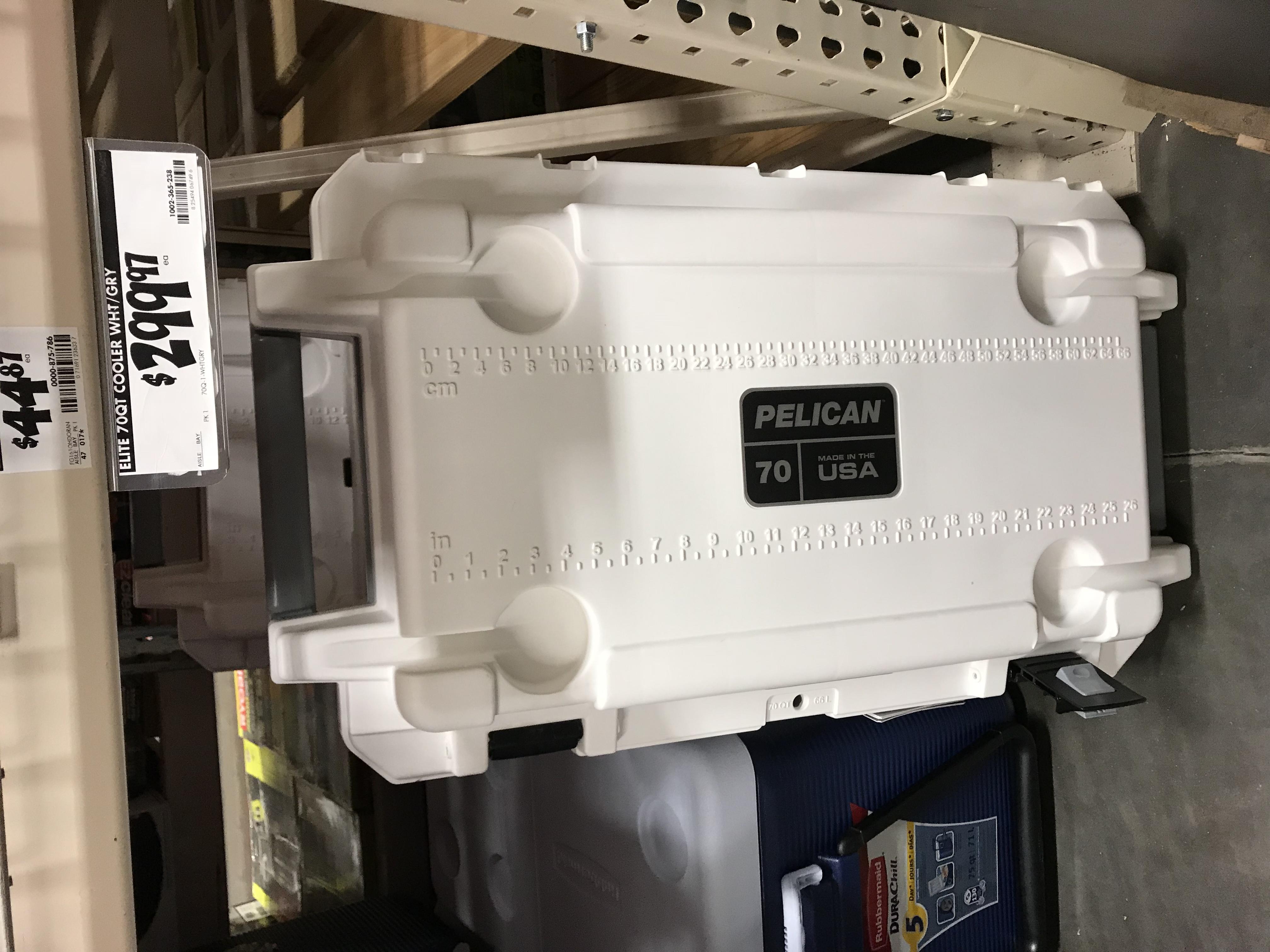 Pelican 70 qt white cooler $299.97 in store YMMV