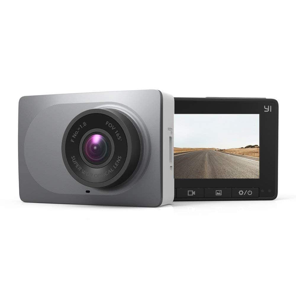 "YI 2.7"" Screen Full HD 1080P60 165 Wide Angle Dashboard Camera, Car DVR Vehicle Dash Cam with G-Sensor, WDR, Loop Recording, Grey $39.99"