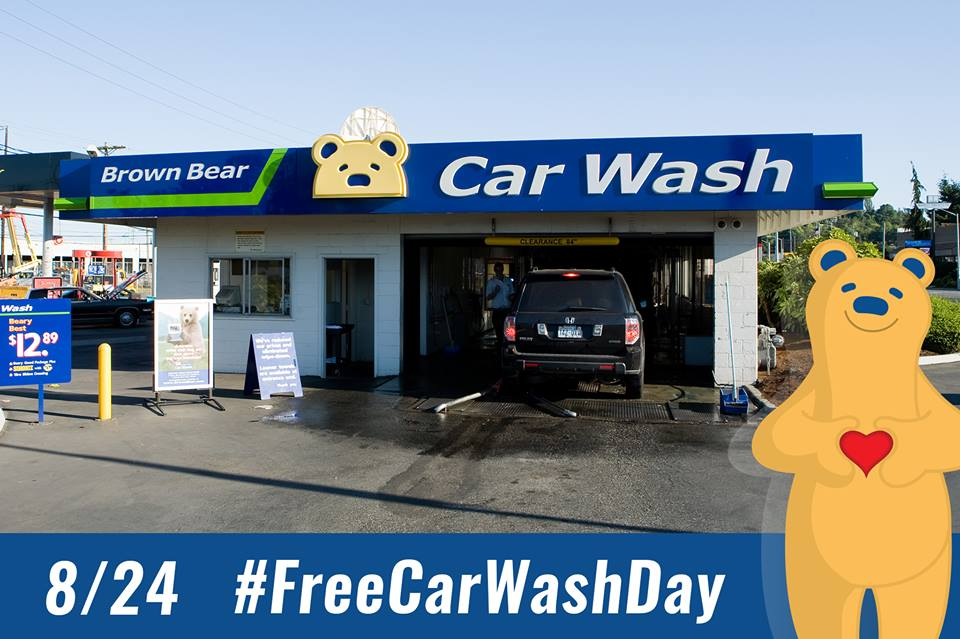Brown Bear Free Car Wash Day 8/24 (Thursday)!! (WA ONLY ...